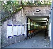 NS5567 : Hyndland railway station underpass by Thomas Nugent