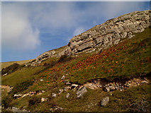 SH7683 : Rocks and sky by Steve  Fareham