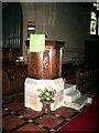 NY2231 : St John's Church, Bassenthwaite, Pulpit by Alexander P Kapp