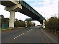 NZ7019 : Railway bridge over A174 by Stephen McCulloch