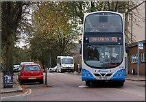 "J3372 : The ""Uni-Link"" bus, Belfast by Albert Bridge"
