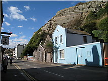TQ8209 : Blue House on Rock-A-Nore Road, Hastings, East Sussex by Oast House Archive