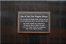 TQ3355 : Fire Station plaque by Kevin Hale