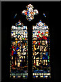 TG4214 : St Peter's Church, Clippesby - stained glass window by M.E.A. Rope by Evelyn Simak