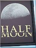 SE8741 : Sign for the Half Moon Public House, Market Weighton by Maigheach-gheal