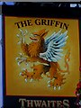 SE8741 : Sign for the Griffin, Market Weighton by Maigheach-gheal