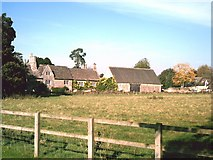 SP2504 : Manor Farm viewed from Kencot playing field by andrew auger