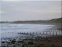 NZ8612 : Groynes at Sandsend by Maigheach-gheal