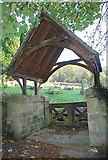 SK2375 : The lych gate to Stoney Middleton cemetery by Roger Temple