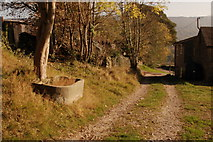 SK2375 : The path through Knouchley Farm by Roger Temple