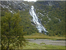 NN1868 : The Steall waterfall by Nigel Brown