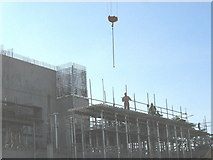 SH4862 : Men at work on the Crown Court building by Eric Jones