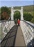 NT2540 : Priorsford Footbridge by Walter Baxter