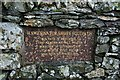 NY4915 : Plaque at Haweswater (2) by Steve Partridge