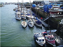 TQ0202 : Boat yard ,west bank, River Arun by Peter Holmes