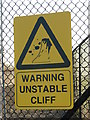 TG3235 : Warning - Unstable Cliff by Evelyn Simak