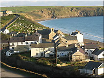 SH1726 : Canol pentref Aberdaron. The centre of the village of Aberdaron by Eric Jones