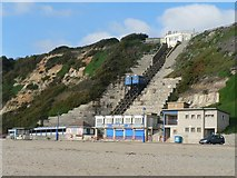 SZ0990 : Bournemouth: East Cliff lift and kiosk by Chris Downer