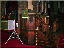 SJ5798 : St Thomas Church, Ashton-in-Makerfield, Pulpit by Alexander P Kapp