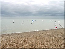 TR3751 : Dinghy race off shore from the Downs Sailing Club (Walmer) by Nick Smith