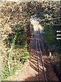 SH5838 : Ffestiniog Railway track by John Lucas