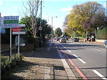 TQ3060 : Brighton Road (A23): looking south to Coulsdon by Dr Neil Clifton