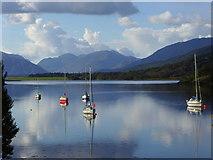 NN0958 : Boats on Loch Leven by sylvia duckworth
