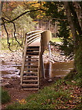 NY7962 : New footbridge at Plankey Mill by Kenneth   Ross