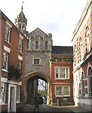 SU3521 : Abbey Gateway, Romsey by Rosemary Oakeshott