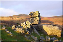 SX5373 : Small stack at Heckwood Tor by Nigel Mole