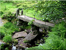 SD9628 : Clapper Bridge at Hebble Hole by George Tod