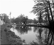 SU9946 : Unstead Lock, River Wey, Surrey by Dr Neil Clifton