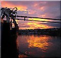 J5082 : Sunset over Bangor harbour by Rossographer