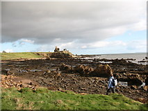 NO5101 : Fife Coast Path near Newark Castle by Gordon Hatton