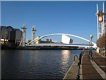 SJ8097 : Footbridge over the Manchester Ship Canal by Oliver Dixon
