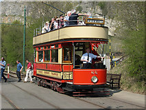SK3455 : Paisley District Tram (1919) at Crich Tramway Museum, Derbyshire by Peter Tarleton
