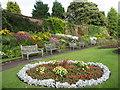 SJ4287 : Floral Display in Reynolds Park Walled Garden by Sue Adair