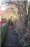 SE2433 : Footpath near Post Hill Court by Betty Longbottom
