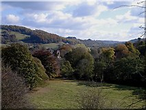 SK2957 : Cromford - Derwent Valley from Willersley Castle by Dave Bevis