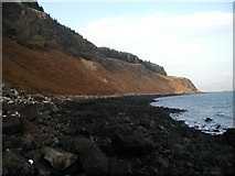 NM4758 : Beach and Cliffs at Bloody Bay by Ben Dallimore