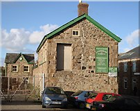 SW6439 : Derelict forge Building, rear of Camborne station by Tom Jolliffe