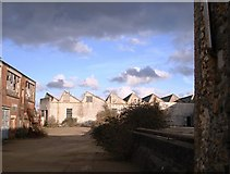 SW6439 : Derelict Industrial Buildings, near to the Camborne railway station by Tom Jolliffe