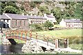 SH5456 : Footbridge at Betws Garmon by Robin Drayton