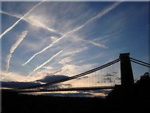 ST5673 : Clifton Suspension Bridge - Vapour trails by Tom Jolliffe
