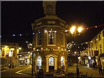 SE9907 : The Buttercross, Brigg; Christmas lights by Jonathan Billinger