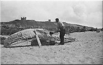 L9802 : Tarring a Curragh, Inisheer, Aran Islands [2] by Harold Strong