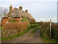 TQ0001 : Modern Thatched Cottages, Climping by Simon Carey