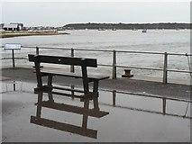 SZ1891 : Mudeford: quayside bench by Chris Downer