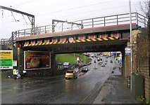 SE1537 : Low Well Bridge No SBF-47 - Leeds Road, Shipley by Betty Longbottom