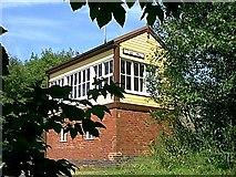 SK1461 : Hartington Signal Box In The Undergrowth by J Scott